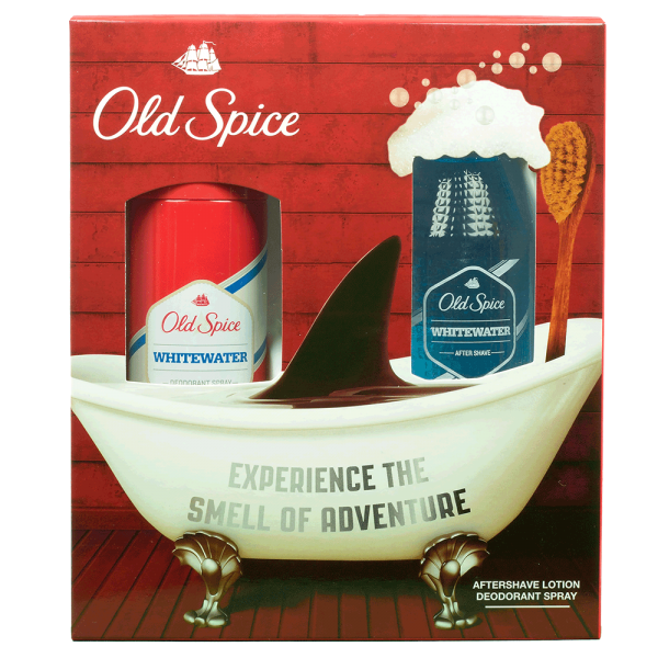 Old Spice Whitewater Geschenkset Aftershave & Deospray