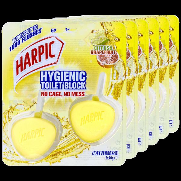 6x Harpic Activ Fresh WC-Stein Hygienic Citrus & Grapefruit 2 Stück