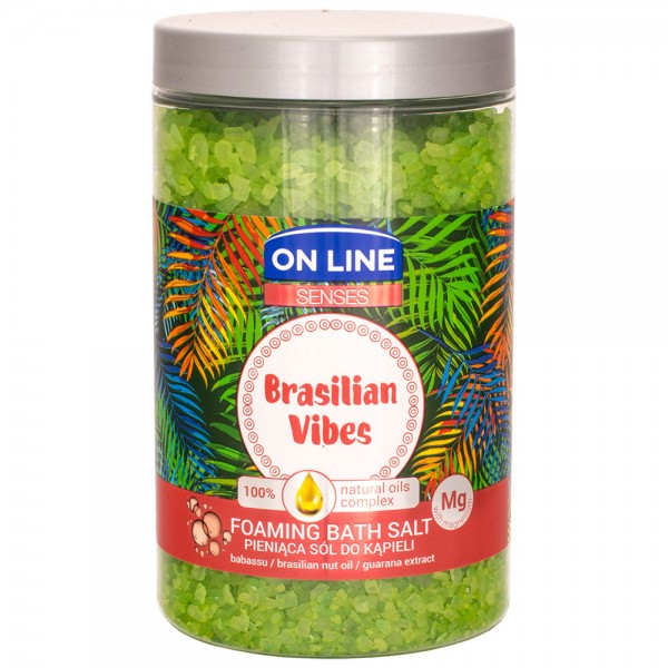 On Line Senses Brasilian Vibes Foam-Badesalz 480g