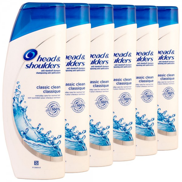 6x head & shoulders Anti-Schuppen Shampoo classic clean 200ml