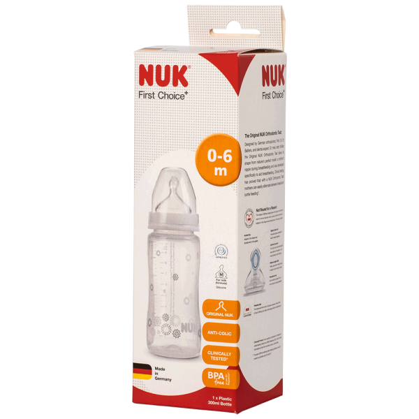 NUK First Choice+ Trinkflasche 300ml 0-6 Monate