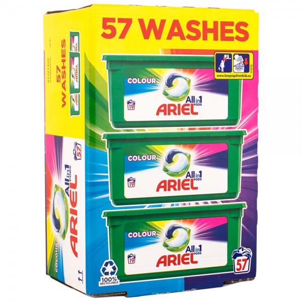 Ariel Vollwaschmittel All-in-1 Pods Colour Liquittabs 57WL