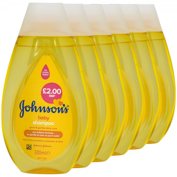 6x Johnson's Baby Shampoo 300ml