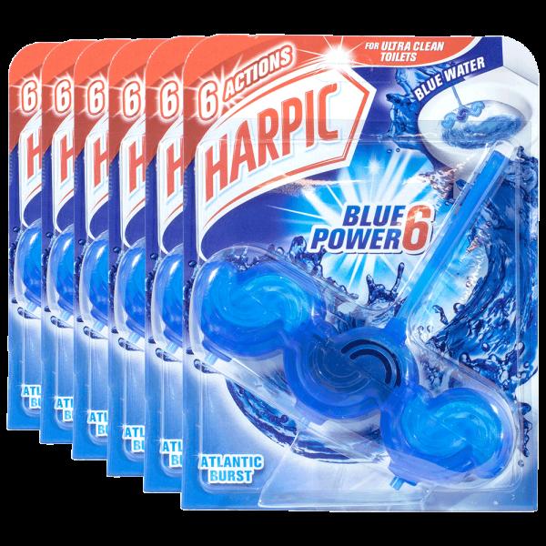 6x Harpic Blue Power 6 WC-Stein Atlantic Burst 39g