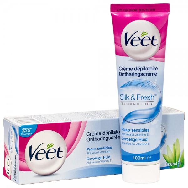 Veet Haarentfernungs Creme Sensitiv mit Aloe Vera, 100ml