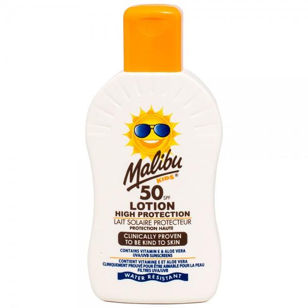 Malibu Kids Sonnenlotion SPF50 hoher Sonnenschutz für Kinder 200 ml