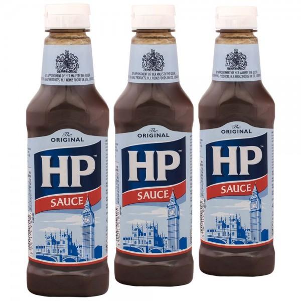 3x HP Original Brown Sauce 425g importiert aus UK