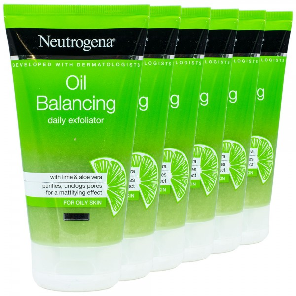 6x Neutrogena Oil Balancing Daily Peeling 150ml
