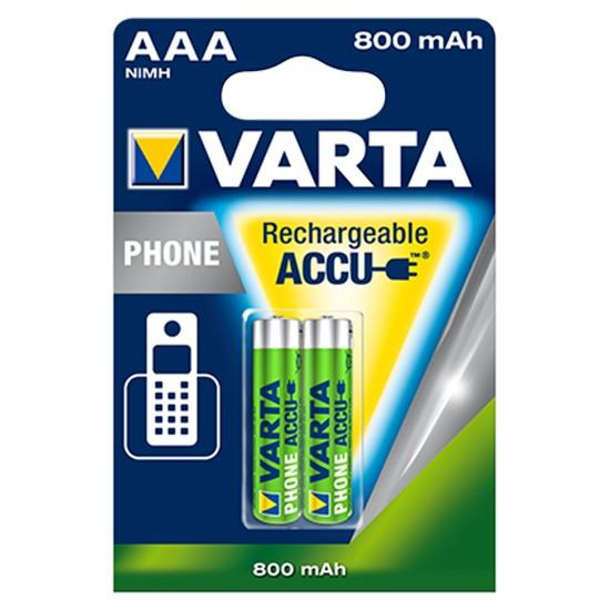2x VARTA Phone-Akku 56398 Micro AAA HR03 800mAh NiMH