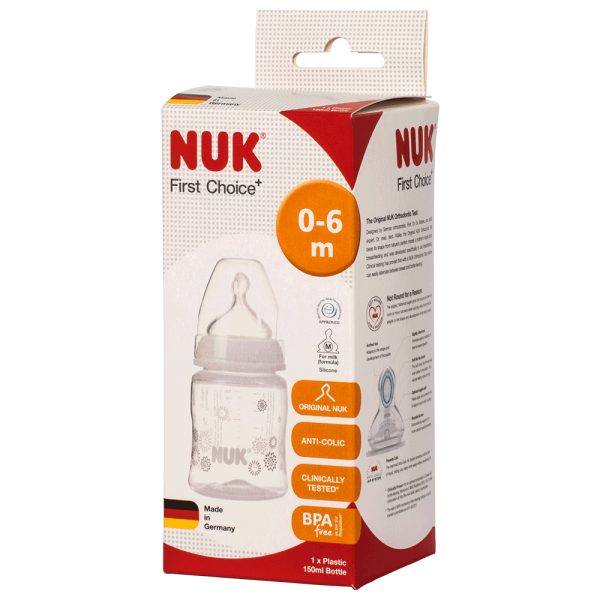 NUK First Choice+ Trinkflasche 150ml 0-6 Monate
