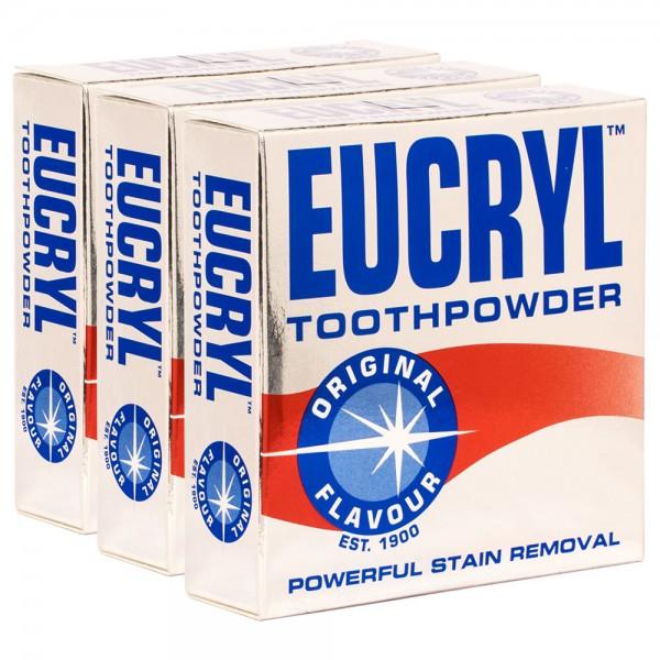 3x Eucryl Original Zahnpuder Fleckenentferner 50g