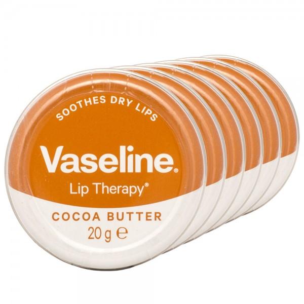 6x Vaseline Lip Therapy Cocoa Butter Lippenbalsam 20g