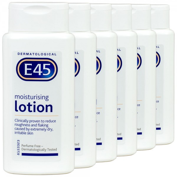 6x E45 Dermatological Moisturising Lotion 200ml
