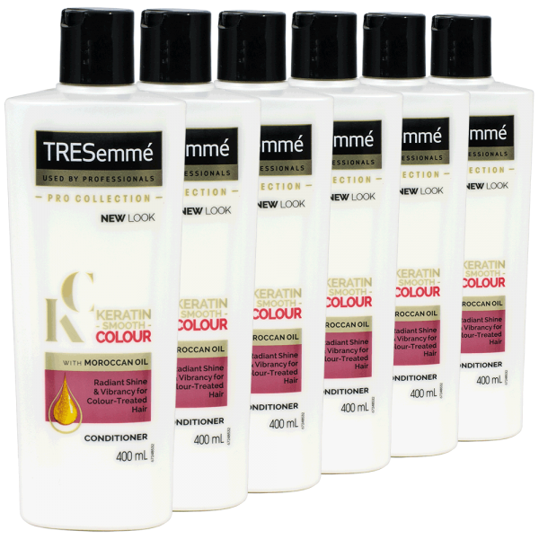 6x TRESemme Keratin Smooth Colour Conditioner - 400ml