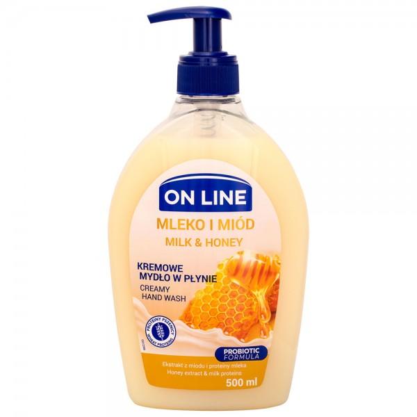 On Line CREAMY Flüssigseife Milch & Honig 500ml