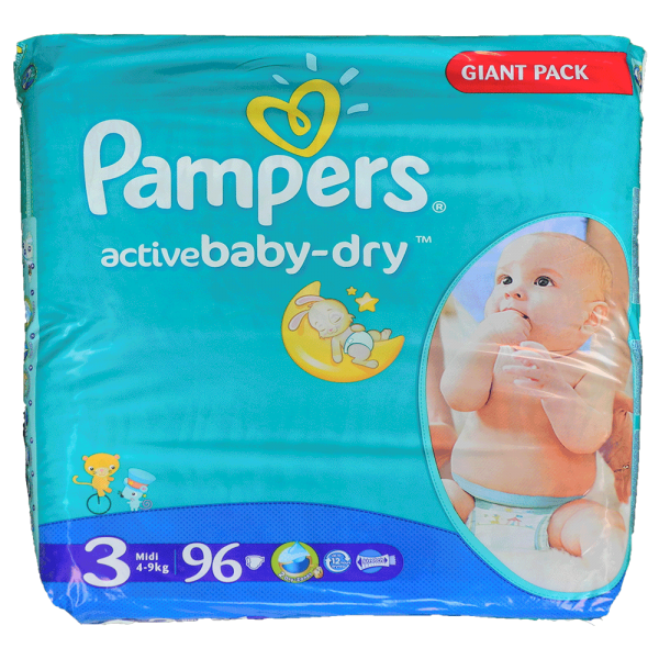 Pampers active Baby - dry Gr.3 - Giga-Pack 96 Stck