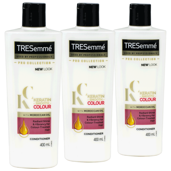 3x TRESemme Keratin Smooth Colour Conditioner - 400ml