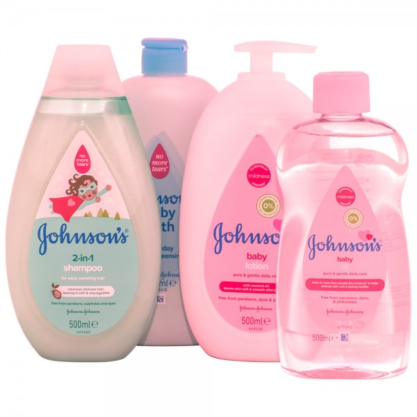 Johnson's Baby Komplett-Pflege SET 500ml