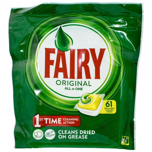 Fairy Original All in One Lemon Geschirrspültabs 61 Tabs