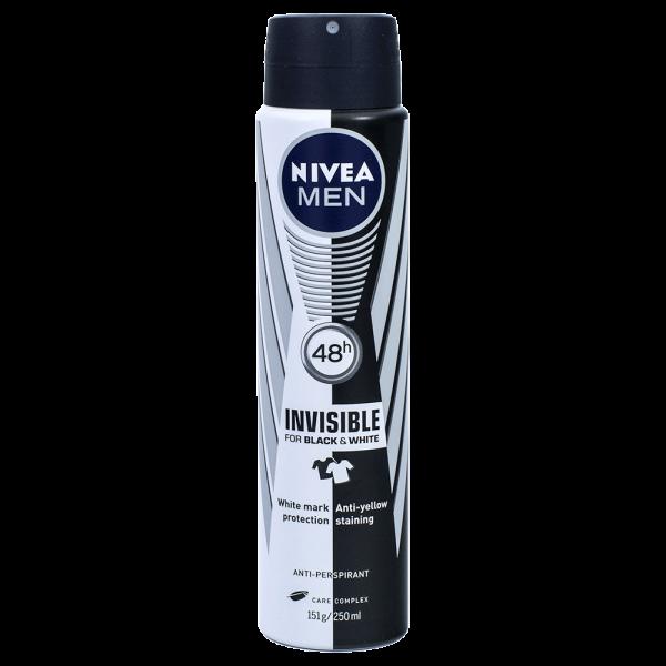 Nivea MEN invisible for Black & White Deodorant 250ml