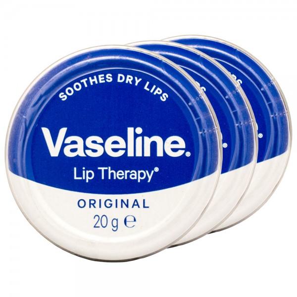 3x Vaseline Lip Therapy Original 20g