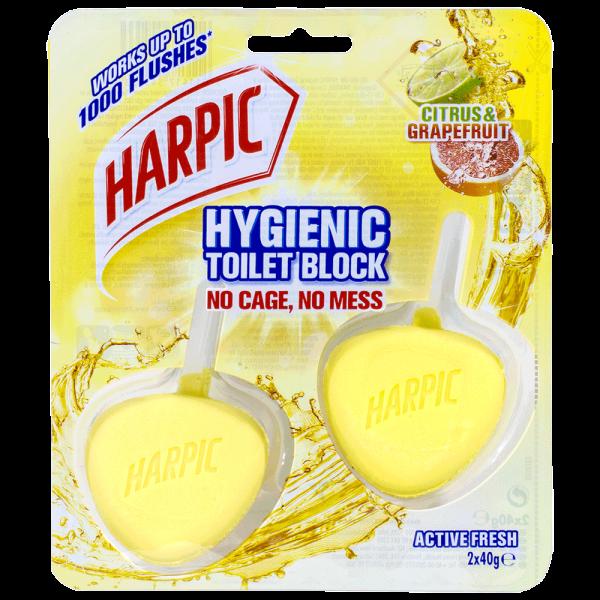 Harpic Activ Fresh WC-Stein Hygienic Citrus & Grapefruit 2 Stück
