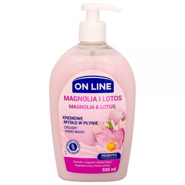 On Line CREAMY Flüssigseife Magnolie & Lotus 500ml