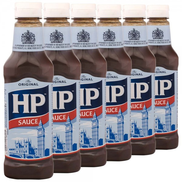 6x HP Original Brown Sauce 425g importiert aus UK