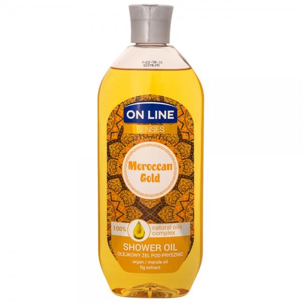 On Line Senses Moroccan_Gold Shower Oil 500ml