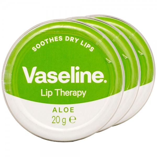 3x Vaseline Lip Therapy Aloe Lippenbalsam 20g