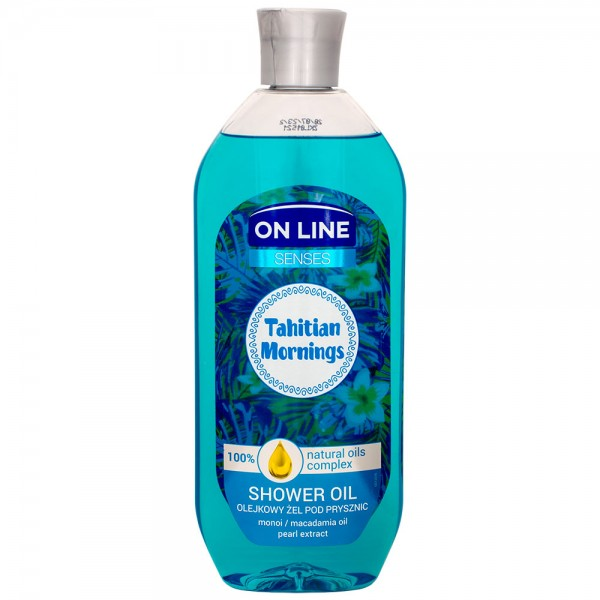 On Line Senses Tahitian Mornings Shower Oil 500ml