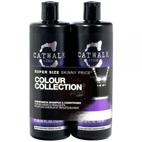 TIGI Catwalk Fashionista Blonde SET Shampoo & Conditioner 750ml