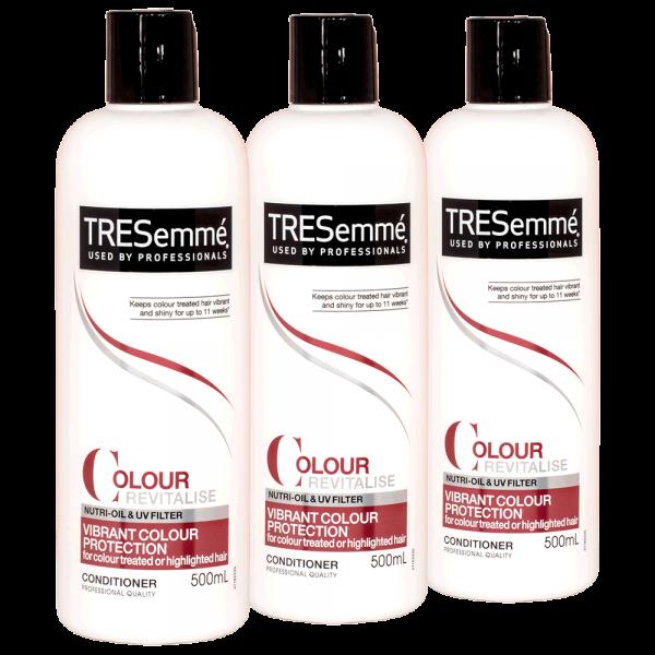 3x TRESemme Colour Revitalise Vibrance colour Protection Conditioner - 500ml