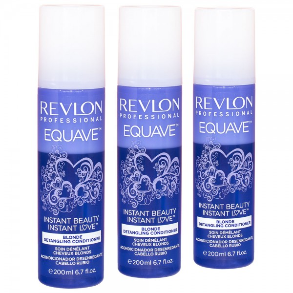 3x Revlon Professional Equave Instant Beauty Blonde Detangling Conditioner 200ml