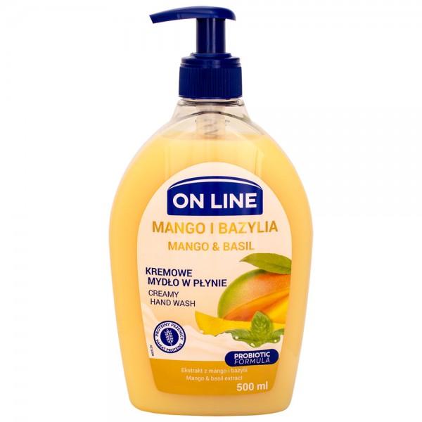 On Line CREAMY Flüssigseife Mango & Basilikum 500ml