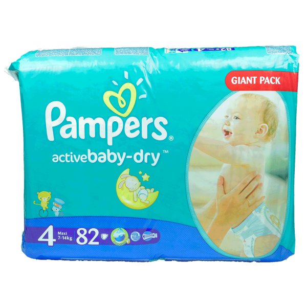 Pampers active Baby - dry Gr.4 - Giga-Pack 82 Stck