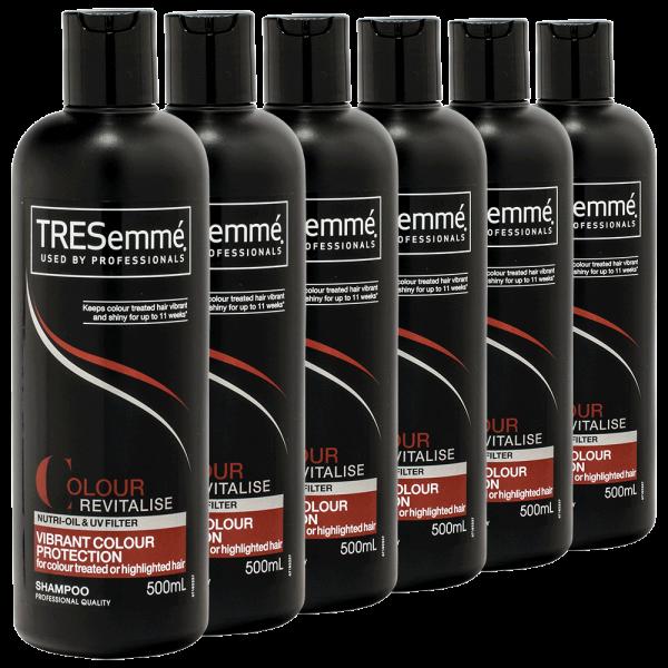 6x TRESemme Colour Revitalise Vibrant colour Protection Shampoo - 500ml