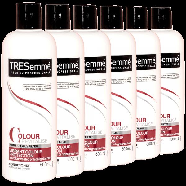6x TRESemme Colour Revitalise Vibrance colour Protection Conditioner - 500ml